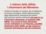 l istituto della diffida i chiarimenti del ministero29