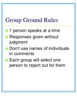 group ground rules