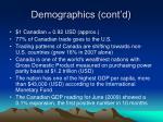 demographics cont d6