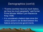 demographics cont d7