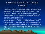 financial planning in canada cont d19
