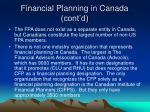 financial planning in canada cont d20