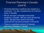 financial planning in canada cont d21