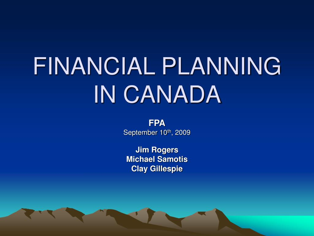 financial planning in canada l.
