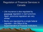 regulation of financial services in canada11