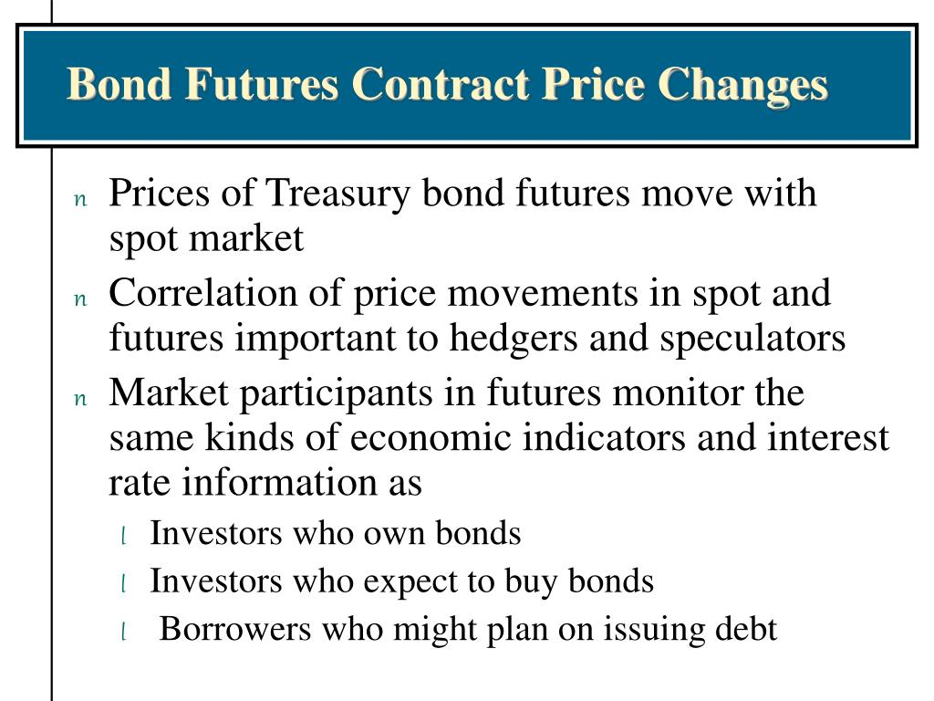 Bond Futures Contract Price Changes
