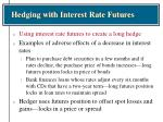 hedging with interest rate futures19