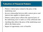 valuation of financial futures