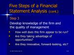 five steps of a financial statement analysis cont64