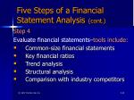 five steps of a financial statement analysis cont65