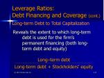 leverage ratios debt financing and coverage cont43