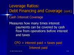 leverage ratios debt financing and coverage cont46
