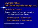 leverage ratios debt financing and coverage cont47