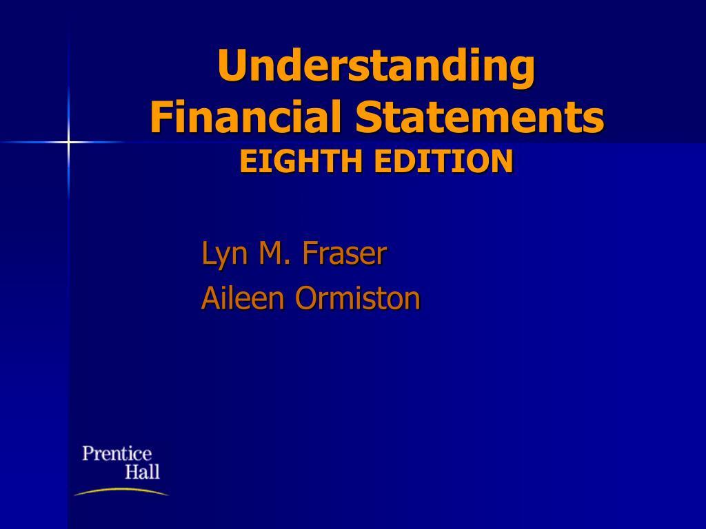 understanding financial statements eighth edition l.