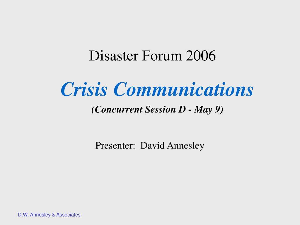 disaster forum 2006 l.
