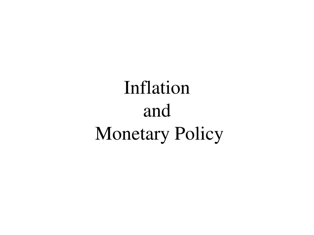 inflation and monetary policy l.
