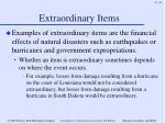 extraordinary items63