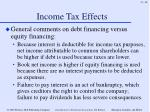 income tax effects48