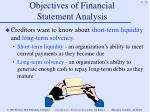 objectives of financial statement analysis10
