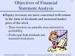 objectives of financial statement analysis11