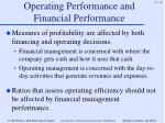 operating performance and financial performance