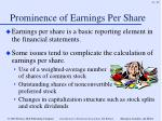 prominence of earnings per share
