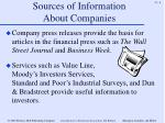 sources of information about companies6
