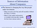 sources of information about companies7