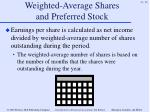 weighted average shares and preferred stock54