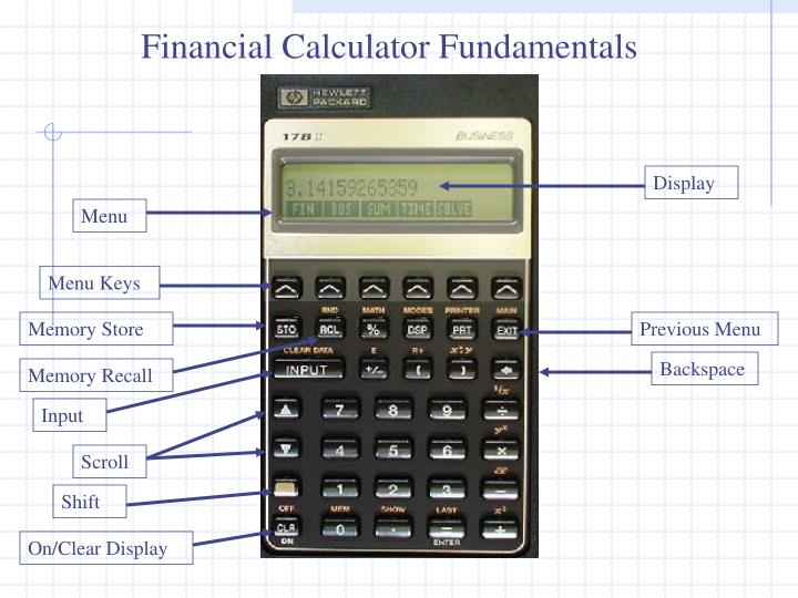 Financial Calculator Fundamentals