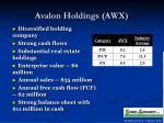 avalon holdings awx