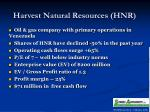 harvest natural resources hnr