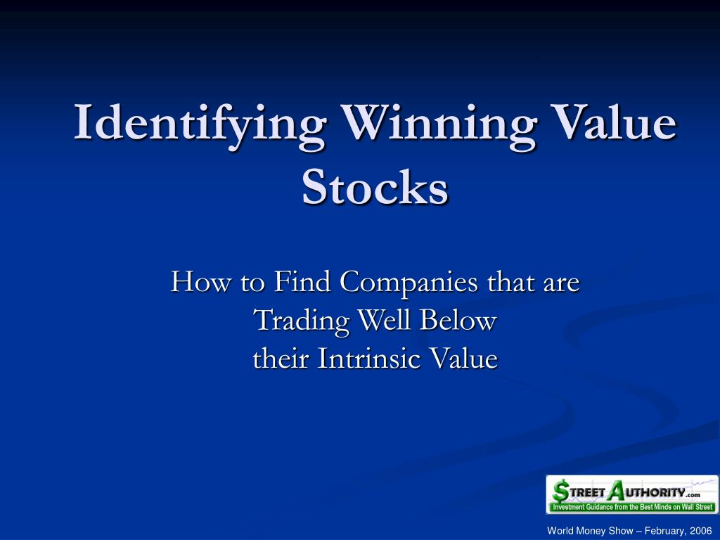 identifying winning value stocks l.