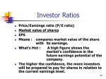 investor ratios34