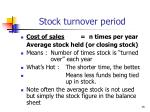 stock turnover period