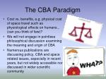 the cba paradigm