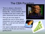 the cba paradigm6