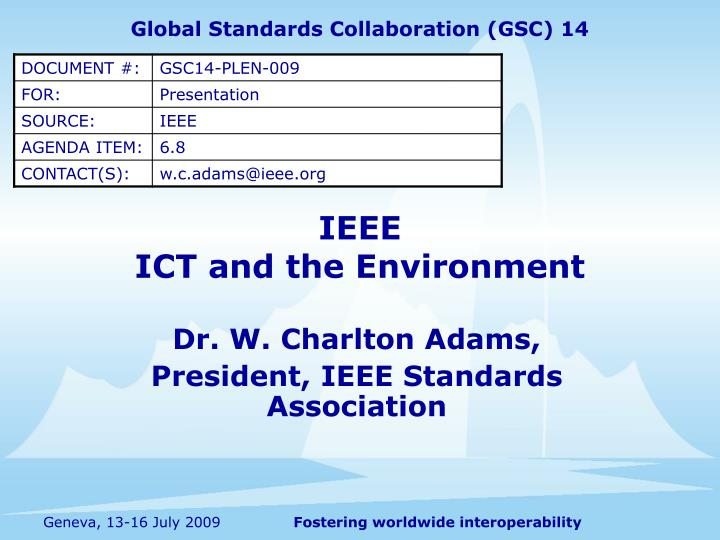 ieee ict and the environment n.