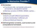 is abstraction possible