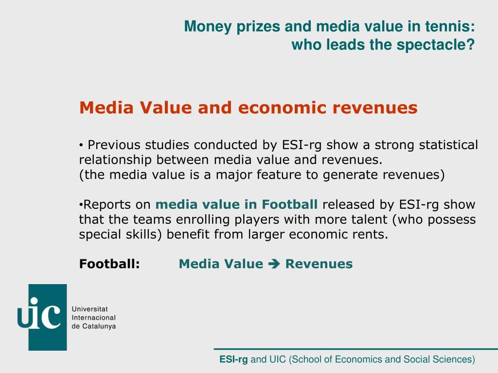 Media Value and economic revenues