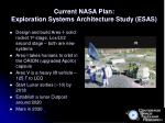 current nasa plan exploration systems architecture study esas