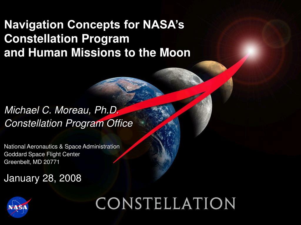 navigation concepts for nasa s constellation program and human missions to the moon l.