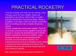 practical rocketry