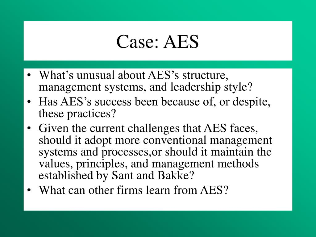 Case: AES