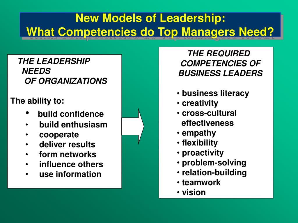 New Models of Leadership