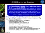 rhese overview and objectives