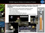 rhese supports multiple constellation projects