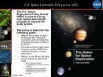 u s space exploration policy a k a vse