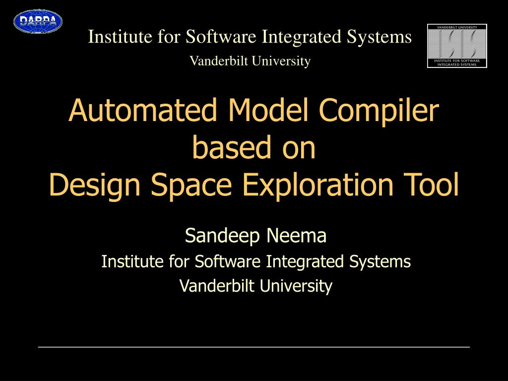 automated model compiler based on design space exploration tool l.