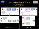 structuring design space example